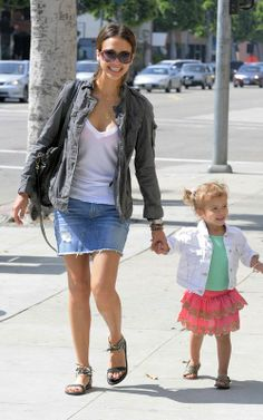 jessica alba denim skirt Denim Pencil Skirts