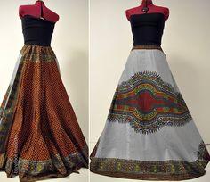 Earthrise Long Grey Dashiki Maxi юбки Алина по BarefootModiste