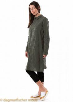 Reversible silk dress by RUNDHOLZ in tomato stripes or olive stripes  #silk #dress #stripes #olive #tomato #rundholz #sale