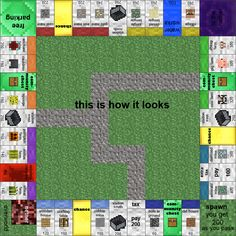 Papercraft Minecraft Monopoly: with all the cards and money! Print and play