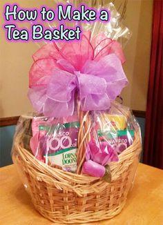 Tea Gift Basket / GiftBasketAppeal / #diy #tutorial