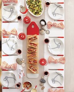 Ideas for a red, white, and blue nautical-themed party