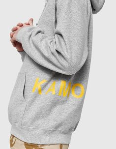 Pullover hoodie from KAMO in Grey