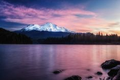 Sunrise at Lake Siskiyou with Mt. Shasta in the background. The perfect backdrop for such a beautiful lake. This snow covered volcano is located in Northern California, Siskiyou County. Photographs Of People, Pictures Of People, Silouette Photography, Mount Shasta, Take Better Photos, Outdoor Photography, Nature Photography, Colorful Pictures, Northern California