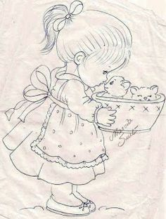 Fabric painting, screen painting, Risk and drawings to paint and crafts Hand Embroidery Designs, Vintage Embroidery, Embroidery Applique, Cross Stitch Embroidery, Embroidery Patterns, Fabric Painting, Fabric Art, Painting Canvas, Art Drawings Sketches