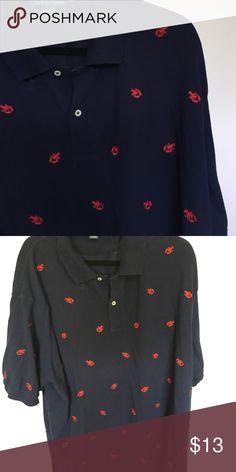 Polo Ralph Lerann lobster shirt Polo by Ralph Lauren navy Blue embroidered lobster shirt Polo by Ralph Lauren Shirts Polos