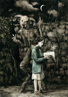 PAN'S LABYRINTH  Ink and scratching over paper | 2013. Santiago Caruso.