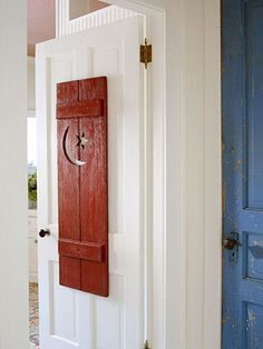 Patriotic Decorating Ideas For The Fourth Of July. Bathroom Door Sign Outhouse ...
