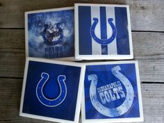 Set of 4 Indianapolis Colts Coasters