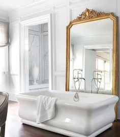 Luxury Bathroom Ideas   It's #BubbleBathDay and we're dreaming of soaking in this luxurious tub with some LOVERESH body scrub and PURSOMA bath soaks.      www.bocadolobo.com #bocadolobo #luxuryfurniture #exclusivedesign #interiodesign #designideas