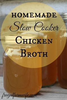 How to make chicken broth in your slow cooker. You'll never buy canned broth again!