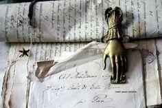 Antique paper holder