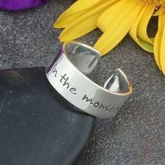 Inspirational Hand Stamped Sterling Silver Adjustable Ring