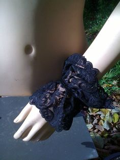 black victorian gothic lolita inspired lace by dollfacedeadwear, $20.00