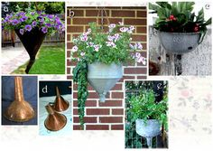 How to make garden containers from old funnels