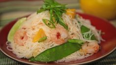 Ming Tsai's Spicy Shrimp  with Mango and Rice Noodles