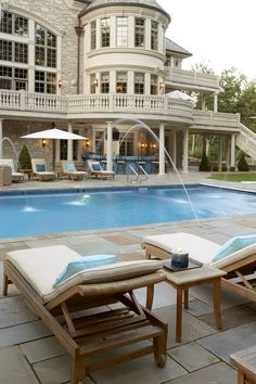 Like what you see⁉ Follow me on Pinterest ✨: @joyceejoseph ~  Beautiful Backyard Swimming Pool  #LuxuryHomes #LuxuryLiving
