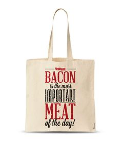 Bacon Tote Bag Funny Tote Bag Funny quotes Tote Bag by store365 Custom Tote  Bags c92973961472f
