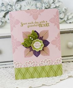 Start Each Day Card by Melissa Phillips for Papertrey Ink (June 2012)