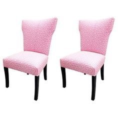 Check out this item at One Kings Lane! Pink Callum Chairs, Pair
