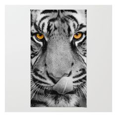 Tiger Portrait Rug ($28) ❤ liked on Polyvore featuring home, rugs, woven area rugs, non skid area rugs, woven rug, machine washable area rugs and chevron stripe rug