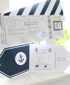 Printable Nautical Wedding Invitation by FortheLoveofBrides