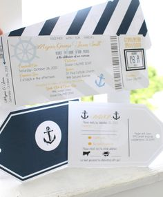 Printable Nautical Wedding Invitation by FortheLoveofBrides