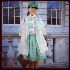 Susie Bubble outside Somerset House - LFW