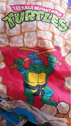 Hey, I found this really awesome Etsy listing at https://www.etsy.com/listing/267887116/vintage-tmnt-flat-sheet-like-new