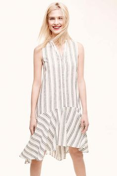 Inked Stripe Shirtdress