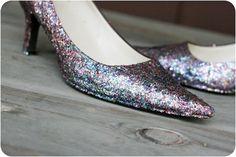 Renovar los zapatos con glitter