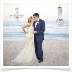 Gorgeous chandeliers are making a come back in 2014. Not indoors? Doesn't matter! Hang them from anything and they are promised to impress #2014weddingtrends #2014weddings