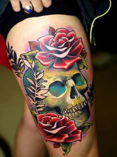 Fantastic skull tattoo. #tattoo #tattoos #ink