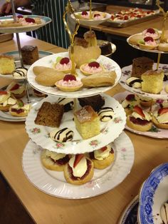 Sweet high tea selection from the kitchens of Woodlands Castle & Maunsel House