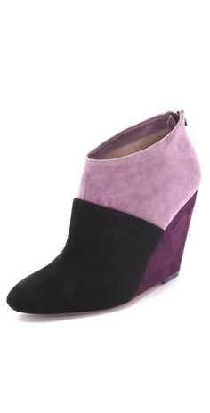 Suede Wedge Booties - I just moaned.