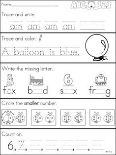 Kindergarten Morning Work {Continued}