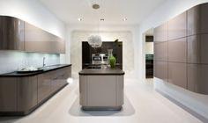 glanzwände graphit modernes küchen design nolte