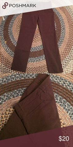 Brown Trousers 77% Nylon 20% Rayon 3% Spandex  EUC new directions Pants Trousers