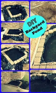 DIY Backyard Pond or Waterfall!  It turned out Beautiful!  Excellent tip for inexpensive filter