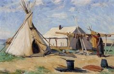 Artwork by Joseph Henry Sharp, Untitled, Made of oil on canvas kp