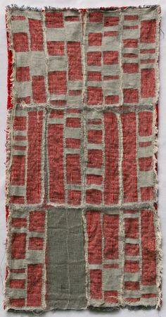 "Detroit Foreclosure Quilt, 22"" x 44"" Cheesecloth, linen, cotton and quilting thread.  by Kathryn Clark"