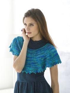 Knitting Patterns Galore - Graceful Cowl Knit Shrug, Knit Cowl, Knitted Poncho, Knitted Shawls, Knit Crochet, Capelet, Knitting Patterns Free, Knit Patterns, Free Knitting