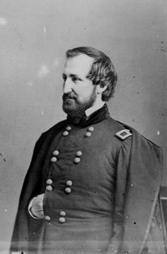 Maj. Gen. William S. Rosecrans - Union - (September 6, 1819 – March 11, 1898) was an American inventor, coal-oil company executive, diplomat, politician, and U.S. Army officer. He gained fame for his role as a Union general during the American Civil War. He was the victor at prominent Western Theater battles, but his military career was effectively ended following his disastrous defeat at the Battle of Chickamauga in 1863.