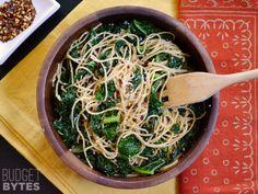 Garlic Parmesan Kale Pasta (sans butter)- Budget Bytes