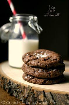 Chocolate Fudge Cookies with Sea Salt from @Anna @ Crunchy Creamy Sweet