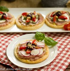 Fresh Tuna, Mozzarella and Basil Pizza by That Skinny Chick Can Bake!!!