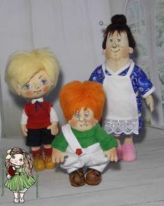Купить Малыш, Карлсон, фрекен Бок. Текстильная авторская интерьерная кукла в интернет магазине на Ярмарке Мастеров