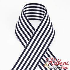 Our Candy Stripe Ribbon is proudly made in the USA and is the best quality out there. Polyester This ribbon is available in & Wholesale Ribbon, How To Make Ribbon, Candy Stripes, Grosgrain Ribbon, Black Stripes, Navy And White, Ebay, 50 Yards, Weddings