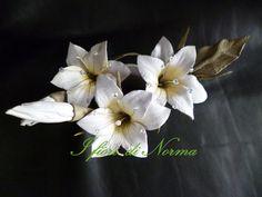 leather flower swarovski flower bridal flower por iFioriDiNorma