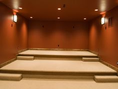 Traditional Media Room Design, Pictures, Remodel, Decor And Ideas   Theater  Seating, And Could Put Simple Bar In The Back